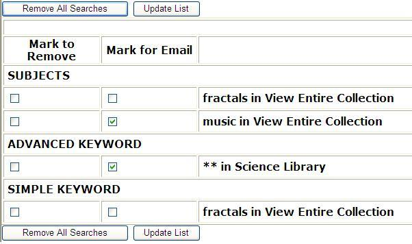 How can I be alerted to new items acquired by the library